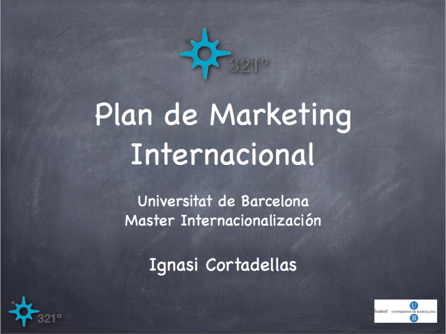 Plan de Marketing Internacional